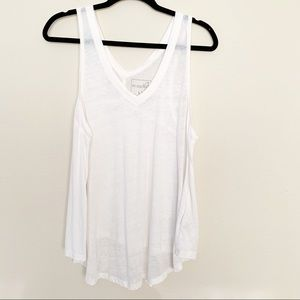 Free People Breezy Burnout Tank Top White